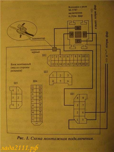 Фото №13 - подключение птф ВАЗ 2110 к штатной проводке