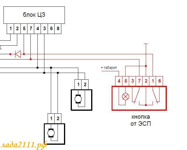 ВАЗ 2110 схема подключения