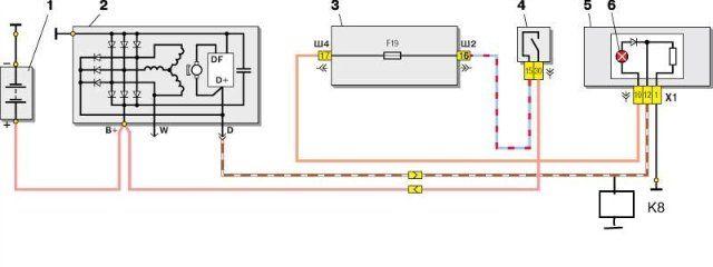 Схема применяется на ВАЗ 2110.
