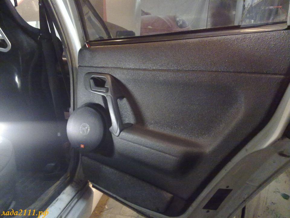 Как сделать подиумы на задние двери на ваз 2110