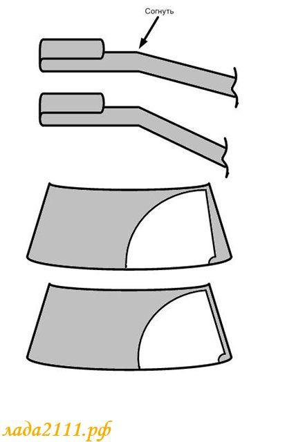 схема сгиба поводка дворника