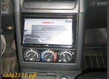 Блок САУО вниз панели и 2din магнитола в ВАЗ 2110