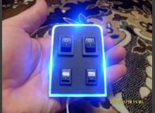 Подсветка кнопок светодиодами ВАЗ 2110