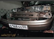 Снятие переднего и заднего бампера ВАЗ 2110, 2111 и 2112