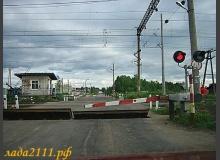 Проезд Ж/Д переезда на красный свет