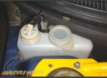Установка датчика в бачок омывателя заднего стекла ВАЗ 2111, ВАЗ 2112