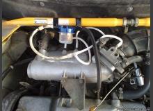 Фильтр между дроссельным узлом и каналом малой вентиляции