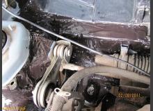 Шумоизоляция моторного щита ВАЗ 2110 (внешняя)