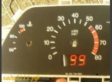 Цифровой индикатор температуры двигателя в приборной панели