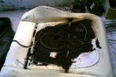 обгорелое сиденье из-за подогрева сидений
