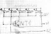 схема цветомузыки авто 5 светодиодов