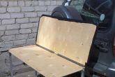столик вместо задней полки автомобиля
