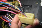 Провода от реле вставляем в колодку Ш1