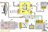 схема заднего омывателя ВАЗ 2111, ВАЗ 2112