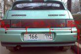 пример крепления датчиков парковки ваз 2110