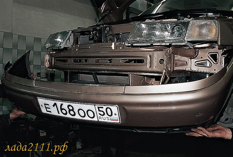 ремонт переднего бампера ваз 2110