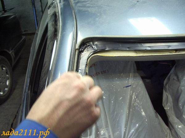 Установка лобового стекла своими руками