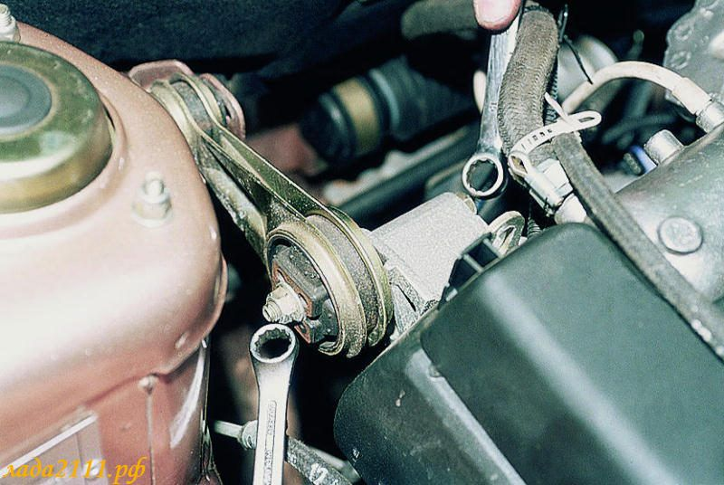 замена задней подушки двигателя ваз 2110