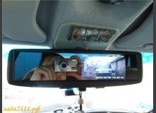 Установка зеркала салона с монитором