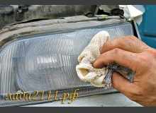 Технология полировки фар автомобиля