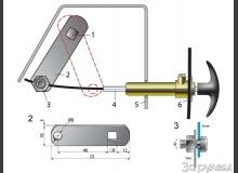 Ручное управление заслонкой печки (отопителя)